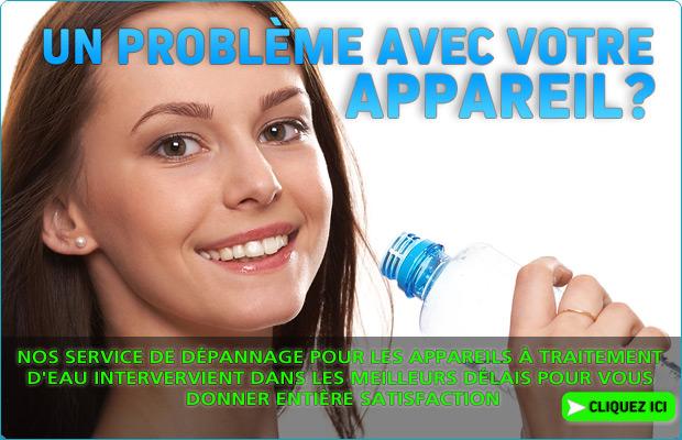 Un problème avec votre appareil de traitement d'eau ? contacter Expereau